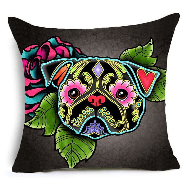 Home Decorative Pillows Cover Dogs Bohemian Style For Home, Car, Gift and more