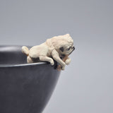 3.5cm Lovely Pug Dog Action Figures Dolls Toys Models Decoration Toys - 3PCS