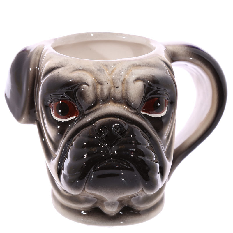 350ML 3D Coffee Mug Pug Head Coffee - Free Shipping