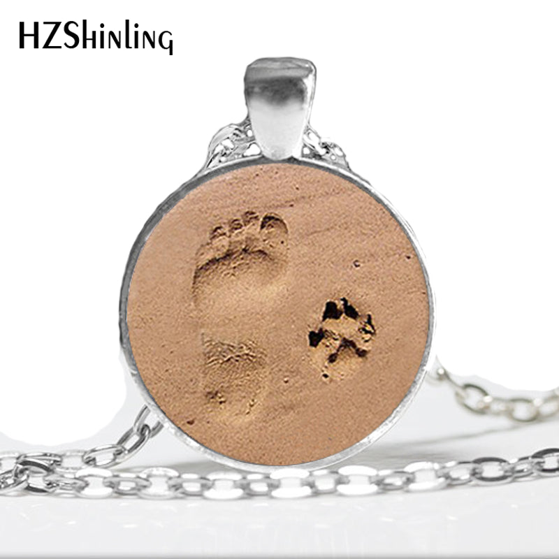 New Dog Paw Necklace Footprint Pendant Dog Paw Jewelry For Dog Lover's