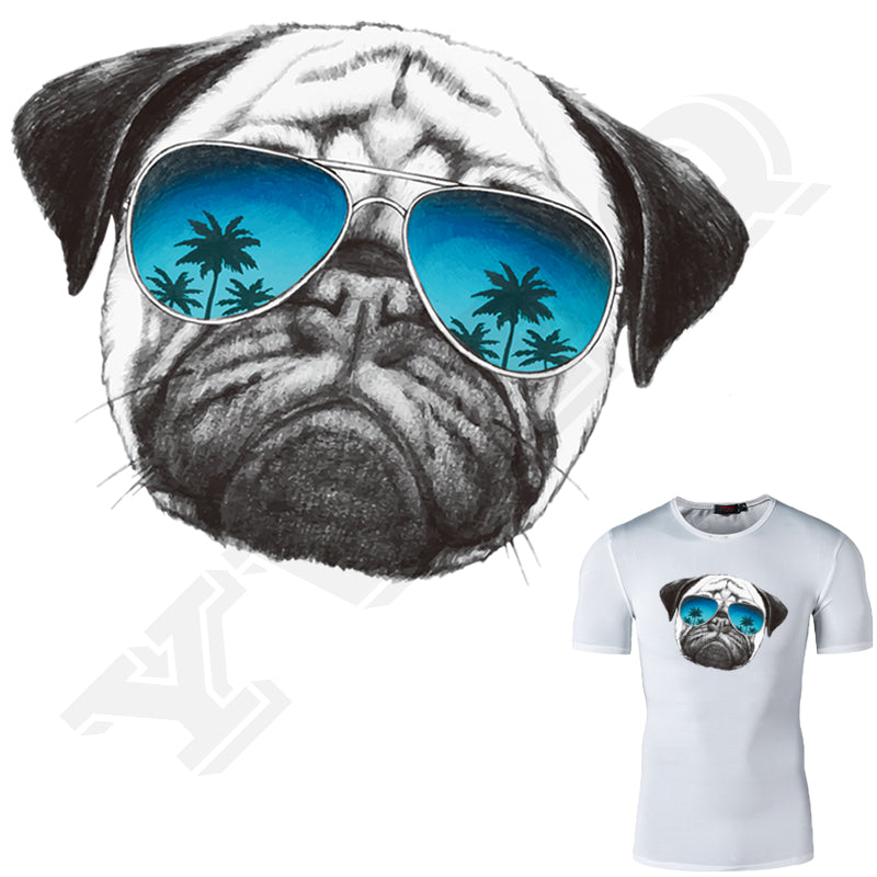 New Design DIY Pug Dog Clothes Washable Sticker