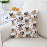 Hippie Pug Cushion Cover Animal Cartoon Pillow Case For Kids Throw Cover Home Decor Pillow Covers
