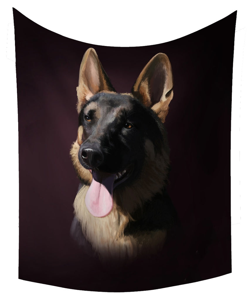 HD Dog Tapestry Polyester Hanging Decor Table Cover Yoga
