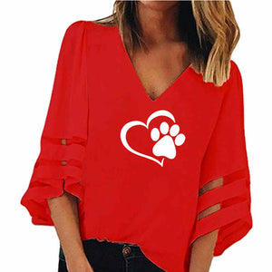 Dog Paw Women T-Shirt