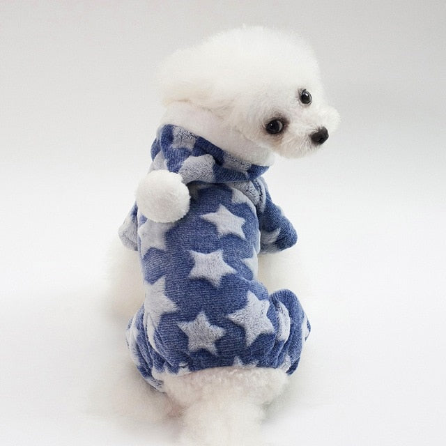 Easy DIY Dog Clothes Warm Flannel Clothing Jacket Hoodies