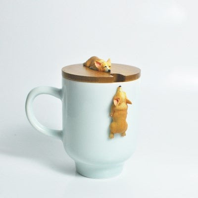 3D Corgi French Bulldog Ceramic Mug