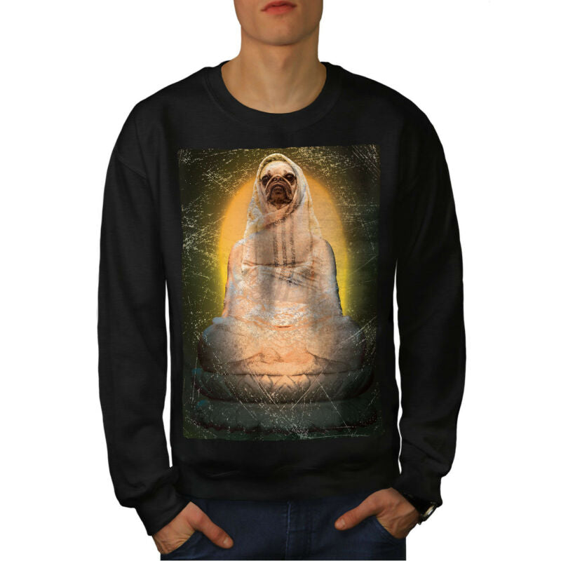 Holy Pug Animal Funny Dog Men Sweatshirt