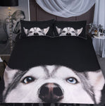 Husky Bedding Set Printed Duvet Cover with Pillowcases Bed Set 3-Piece