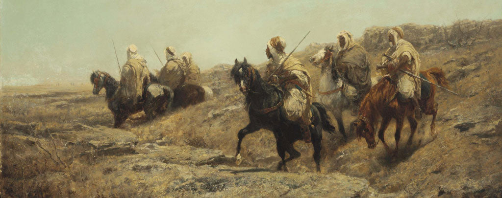 guerriers arabes bedouin chevaux pur sang