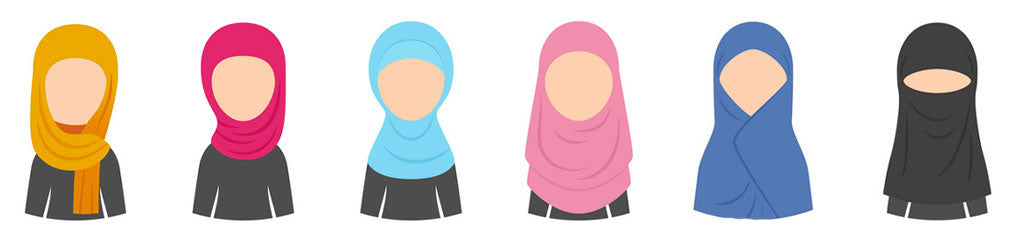 types de Hijab muslim mine