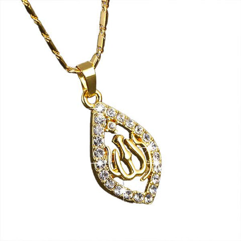 collier Allah cristaux