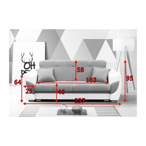 Living Room 3 Seater Sofa Bed BLANCO 9 Colors Modern Design High Quality