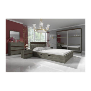 Bedroom Living Room Large Wardrobe LATTE 230 Cm Modern Design High Quality