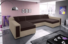 Living Room 4 Seater U-Shaped Sofa Bed MILTON Large Modern Design High Quality