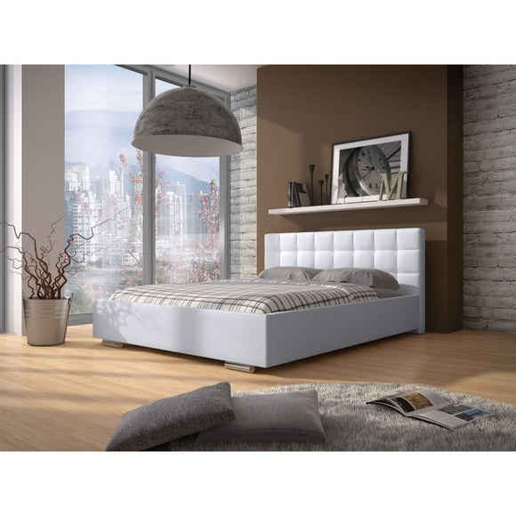 Bedroom Faux Leather Bed Frame DOVE SOFT Modern Design High Quality