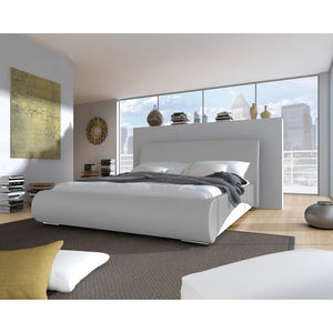 Bedroom Faux Leather Bed Frame FALCON SOFT Modern Design High Quality