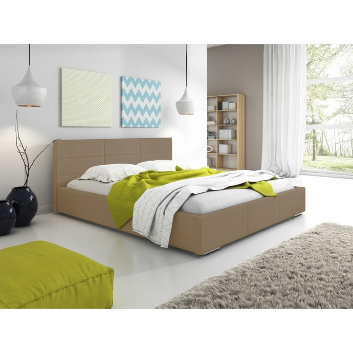 Bedroom Faux Leather Bed Frame MAGIC Modern Design High Quality