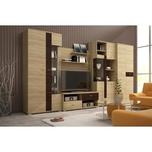 Living Room Display Wall Unit BERGAMO Modern Design High Quality