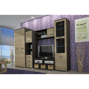 Living Room Display Wall Unit LATTE Modern Design High Quality