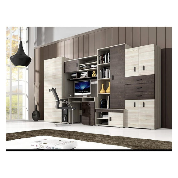 Living Room Display Wall Unit NELLY with Desk Modern Design High Quality