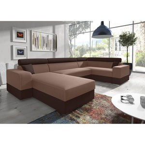 Living Room 4 Seater U-Shaped Sofa Bed INFINITY SUPER Modern Design High Quality