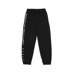 Cyrus Text-Style Joggers - Black