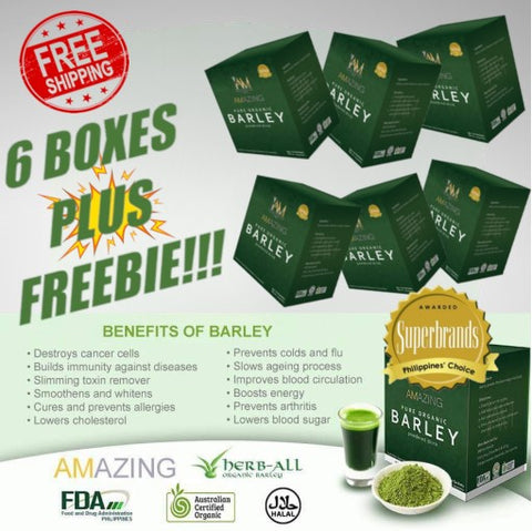6 Boxes of Amazing Pure organic Barley (2 months supply + FREEBIE)