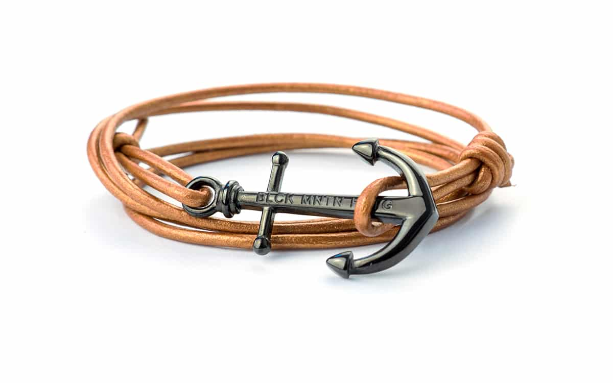 Anker Armband COPPER Leder - Black Mountain Heritage