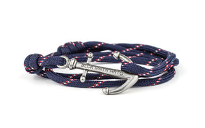 Anker Armband COLONEL navy-rot - Black Mountain Heritage