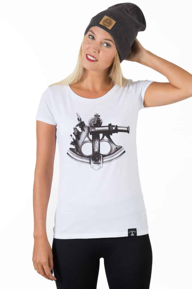 T-Shirt Girl SEXTANT weiß - Black Mountain Heritage