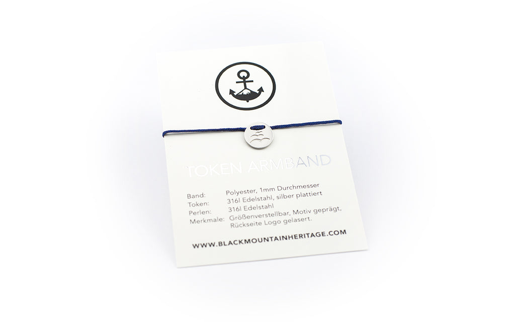 Token Armband SEAGULLS navy - Black Mountain Heritage