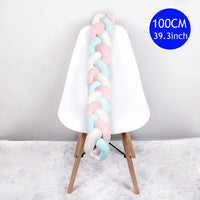 Baby Handmade Nordic Knot Newborn Bed Crib Bumper Long Knotted Braid Pillow Baby Bed Plush Bumper Knot Crib Infant Room Decor