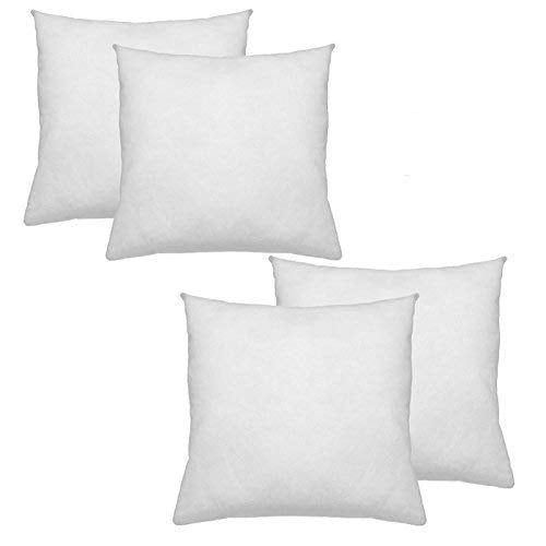 IZO All Supply Premium Hypoallergenic Polyester Decorative Pillows High Loft Throw Pillows Set of 4 18x18 Pillow Inserts - Great Couch Pillows, Bed Pillows, Throw Pillow Insert