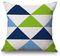 Throw Pillow Cover 18x18 Abstract Geometric Design Letter C in Navy Square Spring Summer Home Decor Invisible Zipper Durable Decorative Cushion Cover Pillow Case Sofa Couch Bedroom Living Room