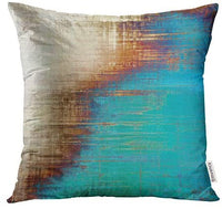 Emvency Throw Pillow Covers Decorative (Beige) Abstract Retro Old Fashioned Patterns Yellow Beige Brown Green Blue White 20x20 Inch Cushion Pillowcase Sofa Square Print