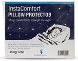 InstaComfort Allergy Pillow Covers Super Soft 100% Cotton Cases Hypoallergenic Pillowcase - Completely Silent Dust Mite Proof Protector - Standard Size Zippered Cover