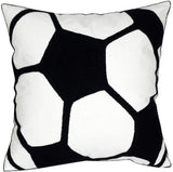 DECOPOW Embroidered Football Throw Pillow Covers,Square 18 inch Decorative Canvas Pillow Cover for Football Room Decor(Cover Only)
