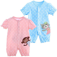 Monvecle Unisex Baby 4-Piece Infant to Toddler Summer Bodysuit and Shorts Gift Pack Set