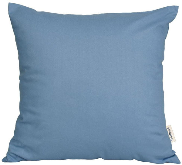 "TangDepot174; Thin Canvas Pillow Shams, 100% Cotton - Handmade (12""x12"", Blue)"