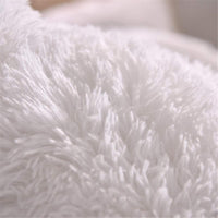 Soukach 2PC Fluffy Shaggy PillowcaseFaux Fur Pillow Case,Cozy Shaggy Plush Pillow Shams, Furry Crystal Velvet Pillow Cover Luxury Long Fleece Decorative Pillowcases(White, Queen/Standard)