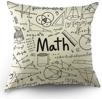 Moslion Space Pillow Case Night Sky Dad and Son Tattoo Happy Father's Day Stars Throw Pillow Cover Cotton Linen Canvas for Home Sofa Decorative Square Cushion 18x18 Inch