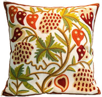 Red Pomegranate Pattern Design Canvas Throw Pillow Cover Case for Couch Sofa Home Decoration Modern Style 18 X 18 Inches