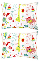 "Mellanni Toddler Pillowcase Set Animal-Print - Pack of 2 Toddler Size 14"" x 19"" - Super Soft Kids Bedding (Set of 2 Pillowcases, Animal Print)"
