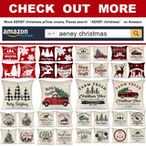 AENEY Farmhouse Christmas Plaid Pillow Covers 18x18 inch Set of 4 for Home Red and Black Buffalo Check Christmas Decor Winter Holiday Christmas Pillows Christmas Decorations Throw Pillow Covers