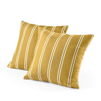 Tecoria Mustard Candy Stripe Outdoor Pillow Set