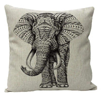 Hidoon Animal Cotton Linen Cushions Cover Sofa for 18x18 Inch(45x45CM) Throw Pillow Case Home Decor Elephant