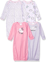 GERBER Baby Girls' 4-Pack Gown