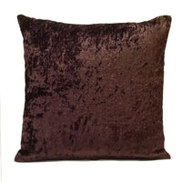 "Dark Brown Velour Decorative Throw Pillow Cover,Modern Pillow,Accent Pillow,Cushion Cover,Pillow case,Lumbar Pillow,Pillow Sham,Toss Pillow. (18""x18"")"