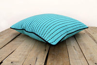 VLiving Housewares Rice Stitch Embroidery Cotton Solid Turquoise Throw Pillow Cover (Turquoise, 24 x 24 in.)