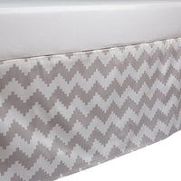 Lolli Living Naturi Crib Bed Skirt - Aztec Chevron